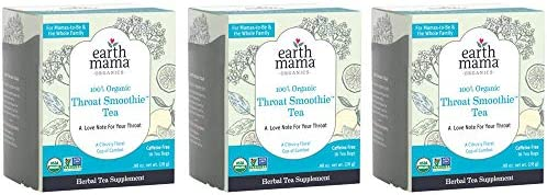 Earth Mama Organic Throat Smoothie Tea with Elderflower for Immune Support Formulated with NO product image