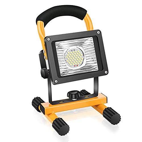 Foco de Trabajo LED 30W,Eletorot recargable Luz de trabajo 20800mAh, Foco Led Recargable Portátil...
