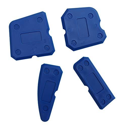 joyMerit 4x Fugenglätter Silikon-Entferner Fugen-Werkzeug Radius-Schablone Blau