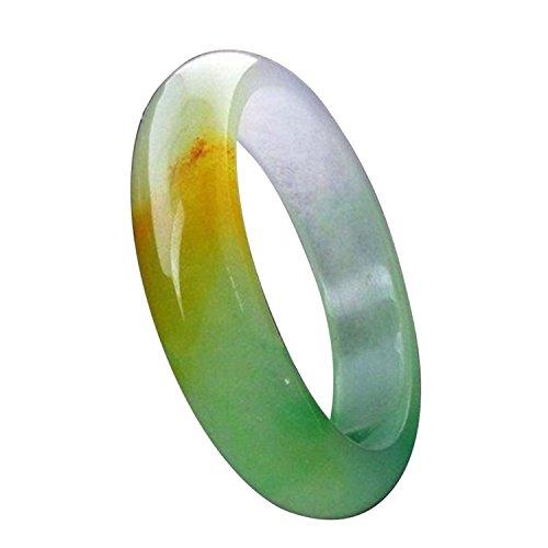 Natürlicher Schöne Smaragd 3Farben grün Nephrit-Jade Armreif Armband morther Geschenk