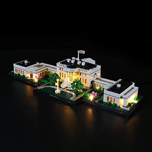 LIGHTAILING Licht-Set Für (Architecture White House) Modell - LED Licht-Set Kompatibel Mit Lego 21054(Modell Nicht Enthalten)