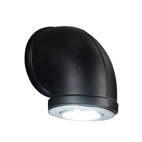 LIZHIQIANG Lampe de mur de tuyau de fer forgé, barre en fer forgé vintage/allée/couloir/balcon/restaurant/barre murale industrielle (Couleur : Noir-Les petites)