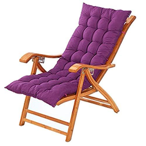 Cozy Deck Chair Beach Yard Zwembad Opvouwbare Ligstoel Verstelbare Chaise Houten Lounge Stoel Binnen of Outdoor Relax Stoel (kleur : Stoel+kussen c)