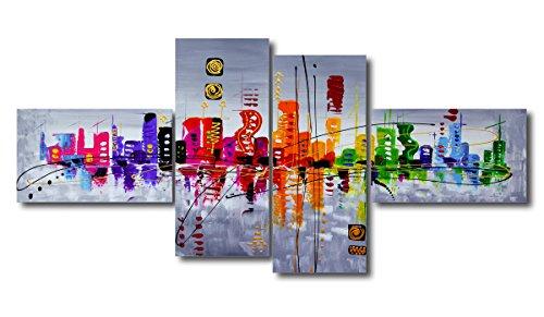 Visario 6515 - Grande Fotografia su Tela (4 Pezzi, 160 x 70 cm, Pittura Imitazione Mano)