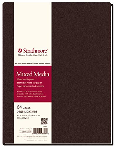 Strathmore 566-8 500 Series Hardbound Mixed Media Art Journal, 8.5'x11' 32 Sheets
