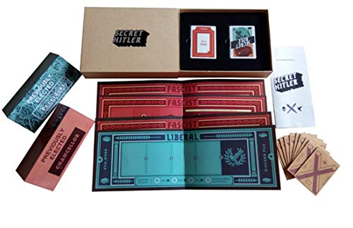 VJUKUB Secret Hitler Board Game Anti-Human Card Secret Hitler English Edition Puzzle Game A Hidden Identity Card Games for Party Family and Friends