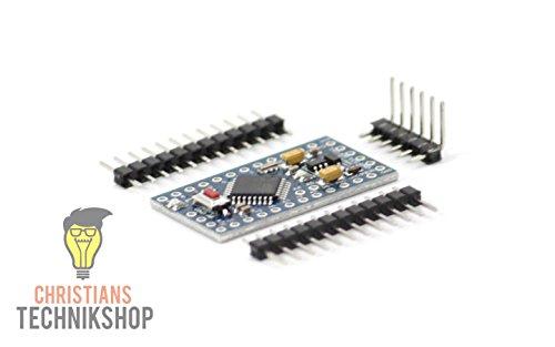 PRO Mini 3,3V 8MHz | Entwicklerboard für Arduino IDE | ATMEL ATmega328P AVR Mikrocontroller | Christians Technik Shop