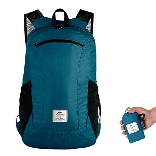 Naturehike Ultra Leichtes Packbar Wasserdicht Wandern Daypack, Kleiner Rucksack Dauerhaft Handliche Faltbare Perfekt für Klettern Camping Rucksack Radfahren (eisblau)