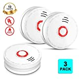 Photoelectric Smoke Detector and Smoke Alarm Battery Operated, UL Listed Sensor Fire Alarms