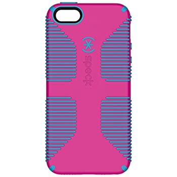 Speck Products CandyShell Grip Cell Phone Case for iPhone SE/5/5S [Does NOT FIT iPhone SE 2020] - Lipstick Pink/Jay Blue