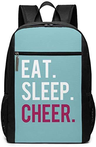 Eat Sleep Cheer Unisex Mehrzweck-Schultertasche Rucksäcke Schule Büchertasche Casual Daypack Laptop Tasche 17 Zoll Eat Sleep Cheer Eat Sleep Cheer
