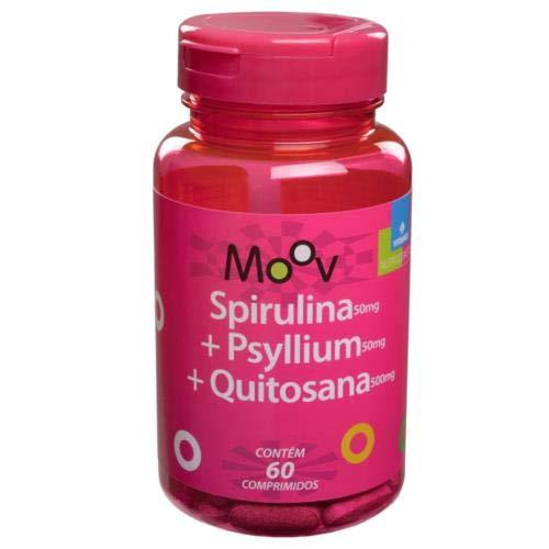 SPIRULINA + PSYLLIUM + QUITOSANA MOOV - 60 comprimidos, Vitamed