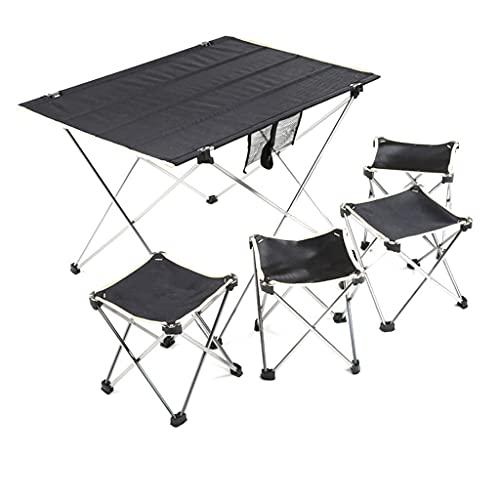 Silla de Camping portátil El Mejor Juego de sillas de Mesa Plegables de aleación de Aluminio para Acampar Acolchadas, portátil, al Aire Libre, Duradero, Ligero, Plegable, para Acampar