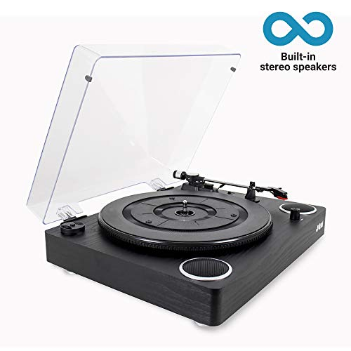 Jam Play Turntable Vinyl Record Player, 3 Speed Belt Drive for Superior...