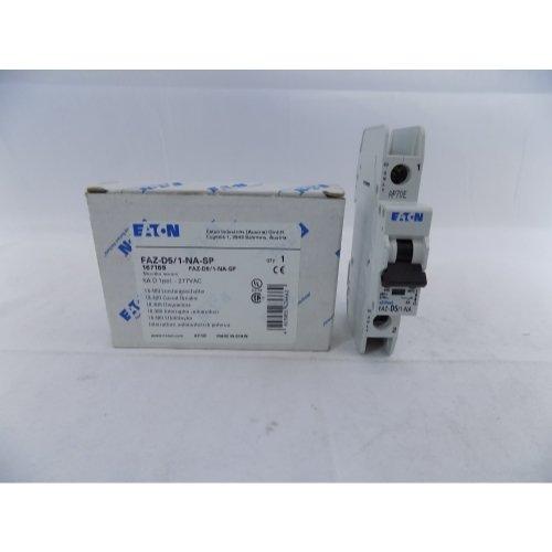 Eaton FAZ-D5/1-NA-SP 5A, 1P, 277/480VAC, 48VDC, 10 kAIC, D-Curve,UL 489