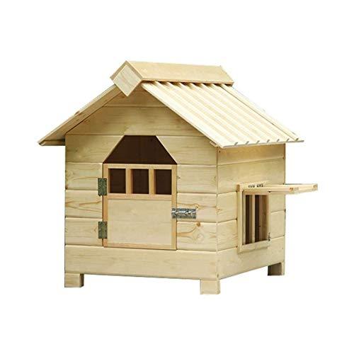 FGH QPLKKMOI Dog House Large/Medium Pet Kennel Shed imperméable et Ventiler, Amovible Wash Cat Garden House Pet Nest Houses