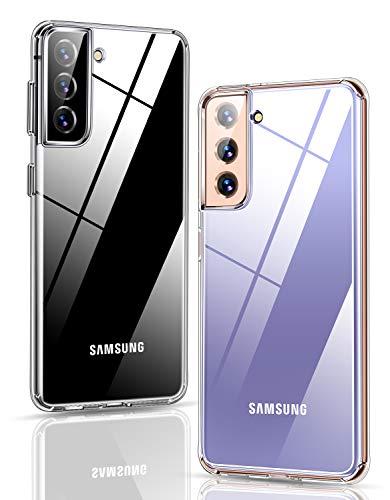 Humixx Kompatibel mit Samsung Galaxy S21 Hülle Durchsichtig Transparent Anti-Gelb Handyhülle Case Silikon Dünn Anti-Fingerabdruck Anti-Kratzer Schutzhülle für Samsung Galaxy S21