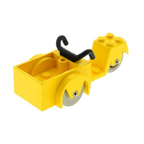 LEGO 1 x System Fabuland Motorrad Dreirad mit Wagen gelb 2 Vorderräder Bike fabac2