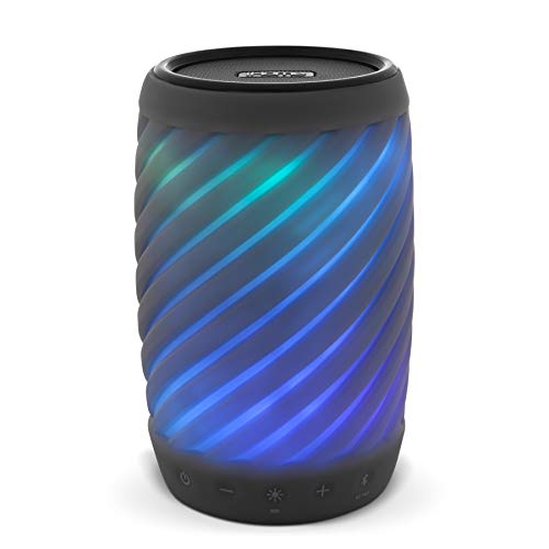 iHome Alexa Built-in Bluetooth Speaker Portable Wireless Color Changing Waterproof Rechargeable Lights Up to Music with Speakerphone, Carry Strap Perfect Party Speaker for Any Event IBT621