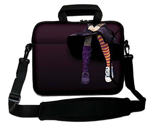 Ektor Ltd 14' Inches Design Laptop Notebook Sleeve Soft Case Bag with Handle and Shoulder Strap Bag