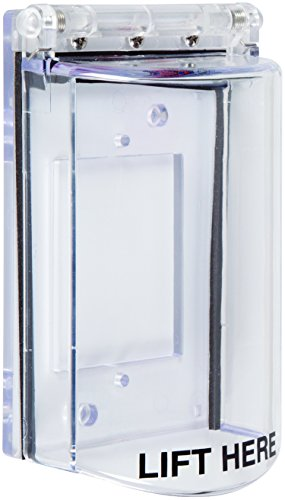 Safety Technology International STI-6518 Bopper Stopper with Spring Loaded Hinge - Clear Protective Cover by \