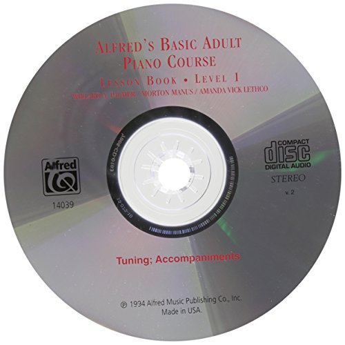 Price comparison product image Alfred's Basic Adult Piano Course CD for Lesson Book: Level 1