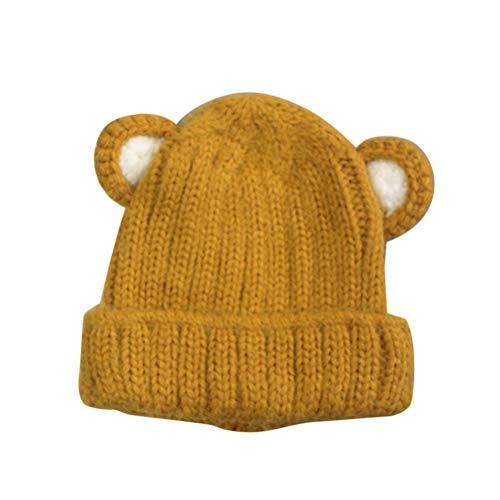 FENICAL Moda Oreja de Conejo Crochet Gorro de Lana Invierno Cálido ...