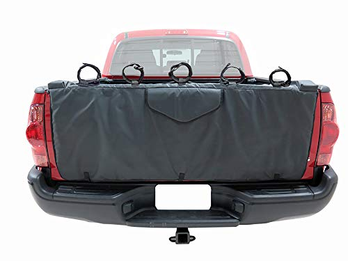 HZYICH 54'' Truck Tailgate Pickup Pads Bike Tailgate Cover for Bicycle Rack with 5 Secure Bike Frame Straps