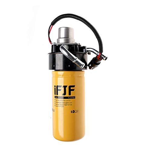 iFJF 1R-0750 Fuel Filter and Adapter Refit Head and 12642623 Fuel Filter Head with Pump Replacement for GM Duramax V8 6.6L 2005-2016 Chevy Silverado/GMC Sierra 2500HD 3500HD Replaces TP3018
