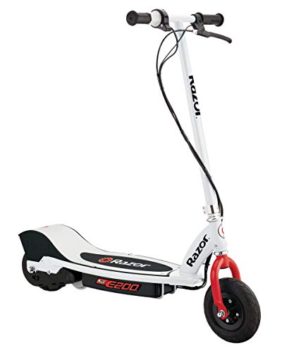 "Razor E200 Electric Scooter - 8"" Air-filled Tires, 200-Watt Motor, Up to 12 mph and 40 min of Ride Time"