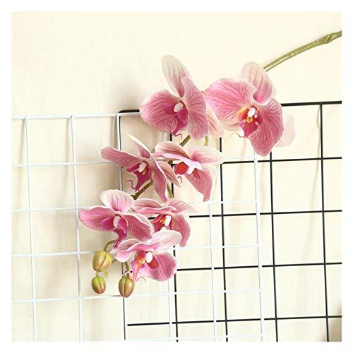 lliang Künstliche Blumen Große Latex 3D Druck Orchideen weiß künstliche Blumen Hand fühlen Simulation Orchidee Blume für Home Hochzeit Dekoration Flores (Farbe : Pink)