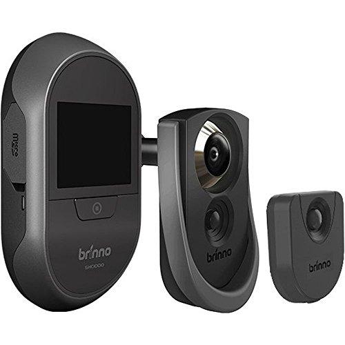 Brinno SHC1000_14 Mirilla Digital con cámara Peephole y Sensor de Movimiento, Negro