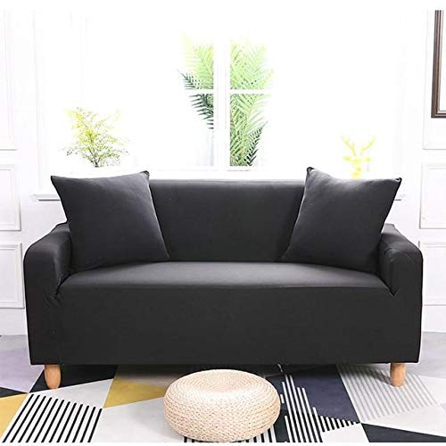 Wasserabweisende Elastik Sofa Hülle (Schwarz, 235 x 300cm)