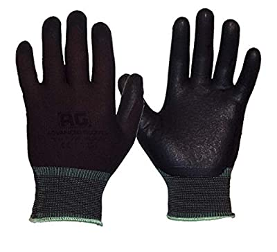 AG NiTex P-200 BR, Nitrile Foam Coated Work Gloves, Brown Gloves, Breathable, 12 Pairs