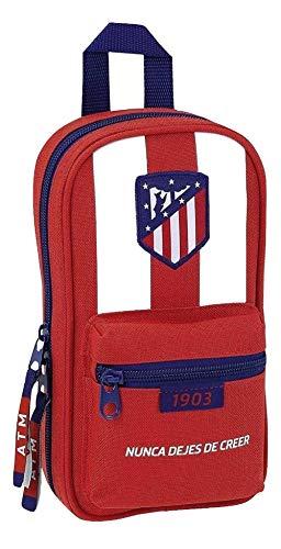 Safta Neceser Con 4 Estuches y útiles Atlético De Madrid Oficial 120x50x230mm