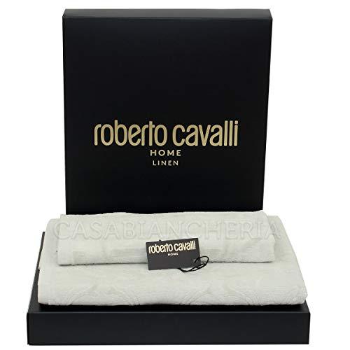 Roberto Cavalli Coppia Asciugamani di Spugna Araldica-Grigio