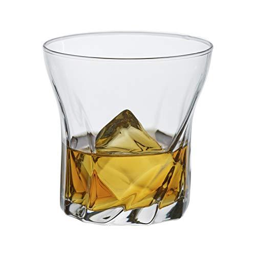 Whiskey Glass Set of 6, Premium Bar Drinking Glass Tumbler for Rum, Scotch, Whisky, Cognac,...