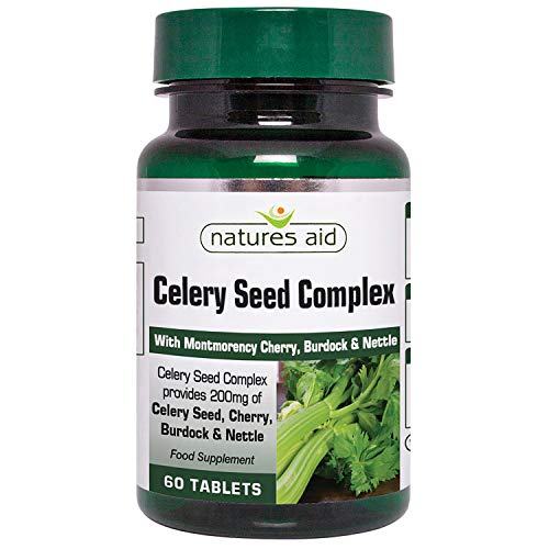 Natures Aid Celery Seed Complex Tablets - Pack of 60 Tablets