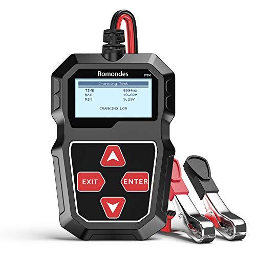 Romondes BT200 Car Battery Tester 12V 100-2000 CCA Auto Battery Load Tester Charging Cranking System...