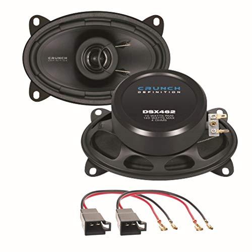 Crunch DSX462 2 Wege Koaxial Lautsprechersystem seitliche Heckablage für Polo 86C Golf 2