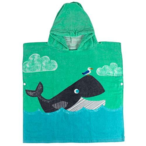 Runuo Bademantel mit Kapuze für Kinder,100% Baumwolle mit Kapuze Ponchos Handtuch für Bad, Schlafanzug, Schwimmen, Strandurlaub