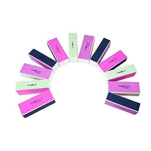 WELLGRO® Nagelfeilen Block - mit je 4 verschiedenen Oberflächen, 1. Feilen, 2. Kanten entfernen, 3. Mattieren, 4. Polieren - Verschiedene Mengen wählbar, Stückzahl:16 Stück