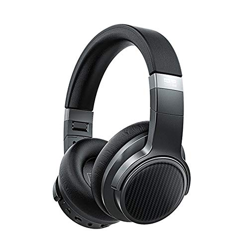 FiiO Noise Cancelling Bluetooth 5.0 Headphones EH3 NC: Wireless Bluetooth Over The Ear Headphones with aptX LL/aptX HD/LDAC/Mic Support,50 Hours Playertime for Travel/Work/Cellphone Black (Black)