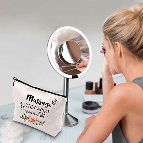 WCGXKO Massage Therapist Makeup Bag Massage Therapist Survival Kit Massage Therapy Graduation Gift