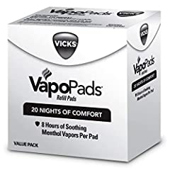 VICKS VAPOPADS ORIGINAL MENTHOL SCENT: Vicks VapoPads can be used with many of our humidifiers & vaporizers, for added comfort & relief. The original menthol scent of these vapor pad refills helps open your sinuses for easier, more comfortable breath...