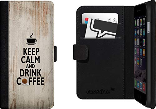 Funda con Tapa para iPhone 6, diseño de Taza de café