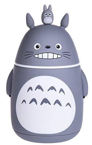 Bambou de provisions mignon Totoro vide pour bouteilles, sous vide Tasse, Mug de voyage, 280 ml, gris