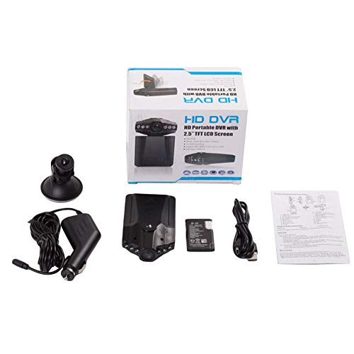 Seasaleshop Dashcam Autocamera Full HD 1080P Dash Camera Auto DVR Recorder met 120° groothoeklens bewegingsdetectie parkeermonitor (nachtzicht met infrarood)