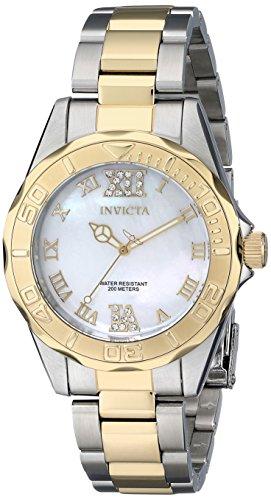 Invicta 17871 - Reloj para Mujeres, Correa de Acero Inoxidable Color Dorado