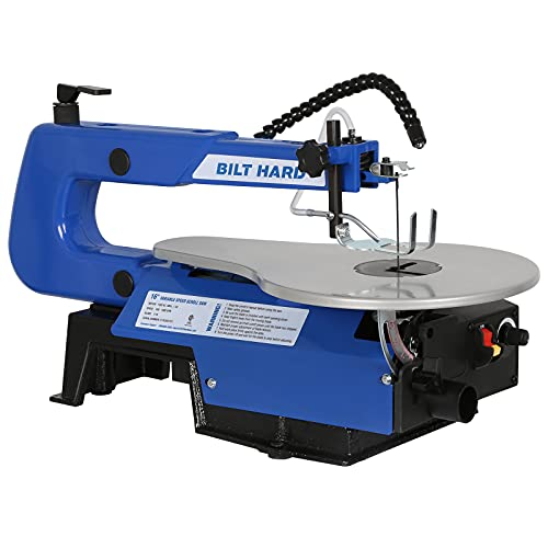 BILT HARD 16-inch Scroll Saw, Variable Speed Scroll Saw with Two-Direction Cut and LED Worklight,...